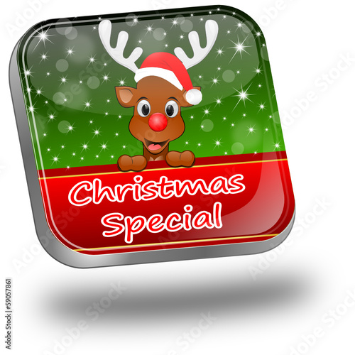 Button Christmas Special with reindeer