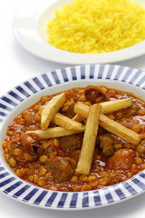 khoresh gheimeh, persian lamb & yellow split pea stew