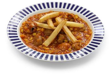 khoresh gheimeh, persian lamb & yellow split pea stew