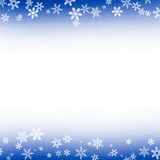 Blue and White Snowflake Background Frame