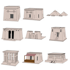 cartoon image of egyptian house