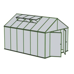 cartoon image of greenhouse building