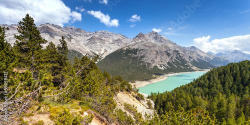 Aluminium Dam dighe di Cancano - Bormio (IT) - panorama