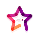 Vector star abstract geometric shape concept