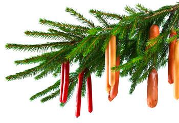 Christmas sausages