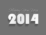 Creative Happy New Year 2014 celebration background