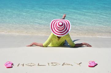 Beach scene. Bahamas