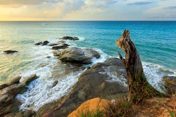 Coastal landscape at Sabah, Borneo, Malaysia
