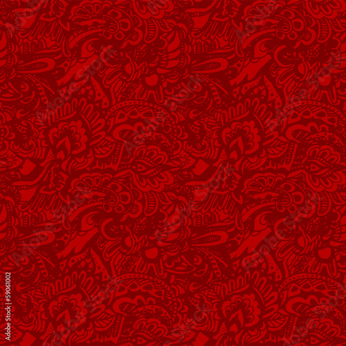 Foto op Plexiglas Kunstmatig Seamless grunge red texture vector background