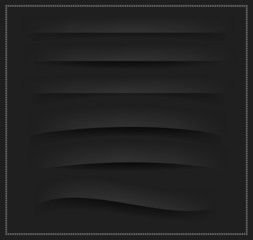 Set of black dividers for web design vector