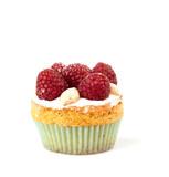 lamponi su mini torta