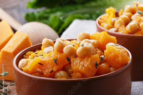 pumpkin with chickpeas