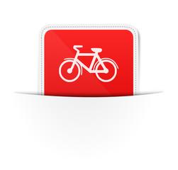 Schild Fahrrad