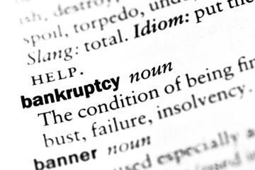 """Dictionary definition of """"Bankruptcy"""""""