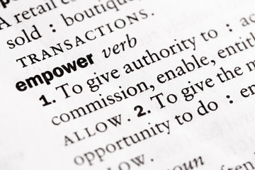 "Dictionary definition of ""Empower"""