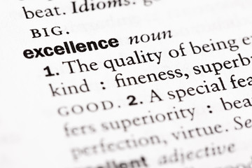 """Dictionary definition of """"Excellence"""""""
