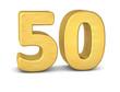 zahl cipher 50 gold vertikal