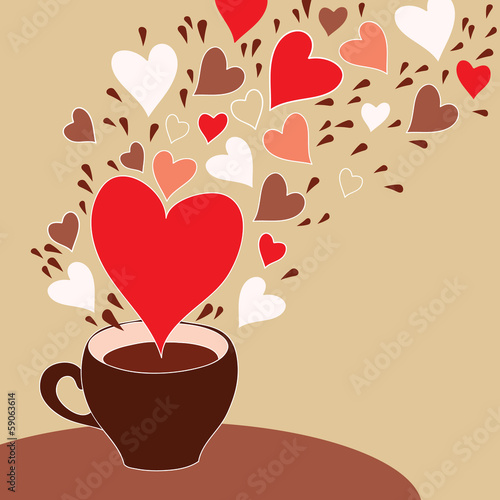 Love cup with light background