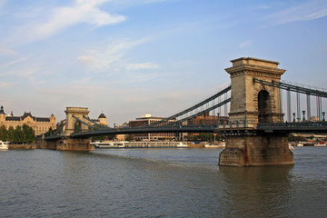 The Széchenyi Chain Bridge in Budapest