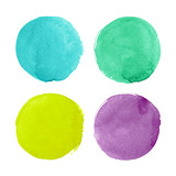 Fototapety Bright watercolor circles for design