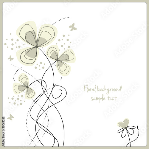 abstract floral template