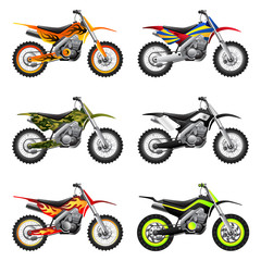 Sport motorcycles set