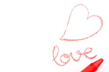 Corazon dibujado en rojo