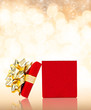 Opened Gift Box For Any Occasion Background With Copy Space