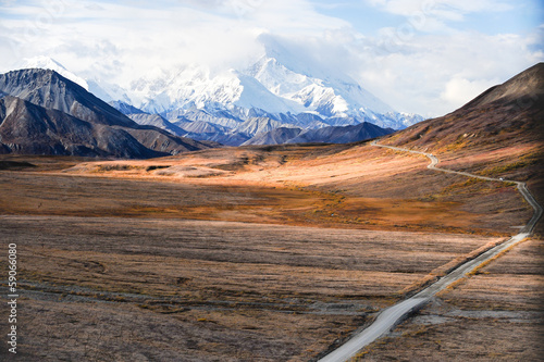 Mount McKinley's peak, Denali National Park, Alaska, US