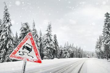 Winter und autoverkehr