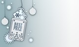 blue xmas coupon with best price sign