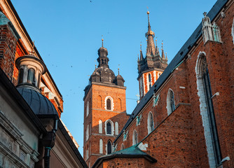 Historic houses in Krakow