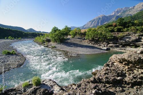 Vjosa River In Albania