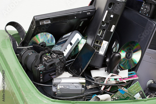 Electronics in dustbin