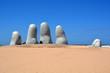 """Leinwanddruck Bild - """"Los Dedos"""", Punta del Este, Uruguay"""