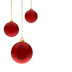 Bolas de Natal Vermelhas