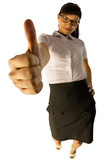 Business lady with thumb up