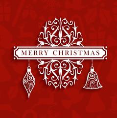 Vintage Christmas text greeting card