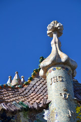 Details of Casa Batllo in Barcelona, Spain