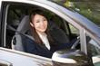 車に乗る女性 ビジネス