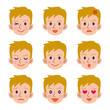 金髪男性の表情セット