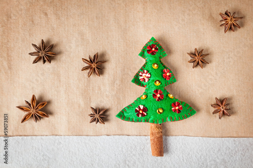 Christmas tree with spices