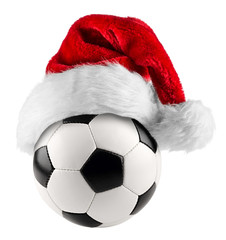 soccer ball santa hat