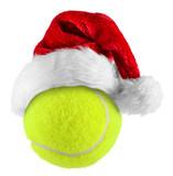 Fototapety tennisball santa hat