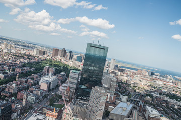 Cityscape view of downtown Boston