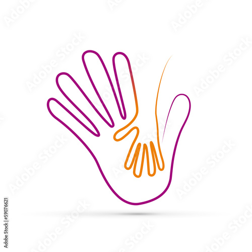 Vector logo children hand