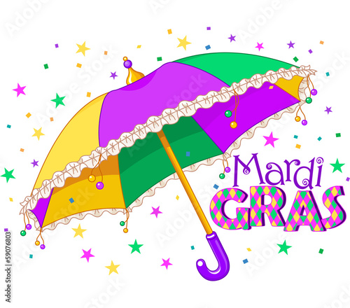 Mardi Gras umbrella