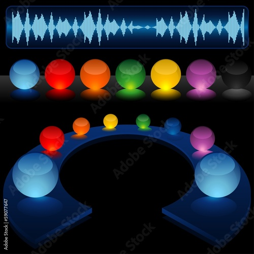 Glass Audio Background