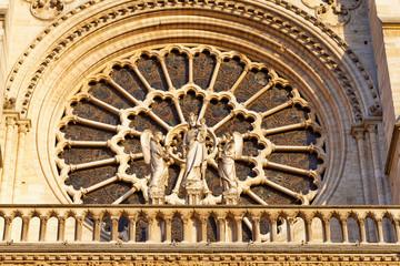 Details of Notre Dame de Paris Cathedral.France.