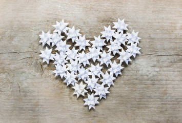 Heart made of paper stars